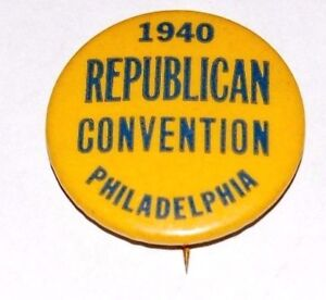 1940 WENDELL WILLKIE DEWEY campaign pin pinback button political presidential