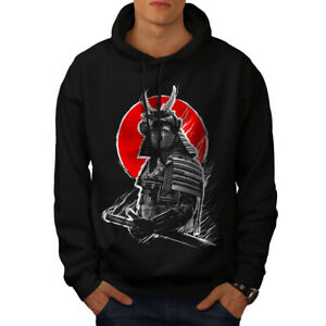 Wellcoda Japanese War Mens Hoodie, Asian Anime Casual Hooded Sweatshirt