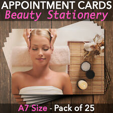 Appointment Cards for Beauty Salons, Facial, Massage Therapist, Pack of 25 BE