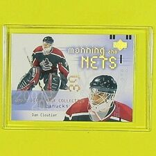 """DAN CLOUTIER   2001-02   """" MANNING THE NETS """" #129   Vancouver Canucks"""