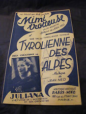 Partition Mimi trotteuse Jean Ned Tyrolienne des Alpes Music Sheet