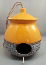 Ceramic Honeypot Birdhouse Orange Bird Nest