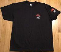 NOS Vintage 80s Bull Durham t shirt XL cigarette pocket black tobacco baseball