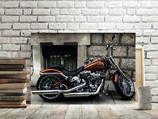 HARLEY DAVIDSON BIKER MOTORCYCLE CANVAS PICTURE #169 CANVAS MOTORBIKE PICTURES