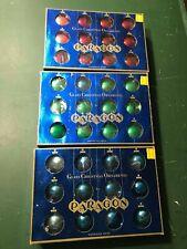 Vintage 1960'S Paragon Glass Christmas / Xmas Ornaments In Original Boxes