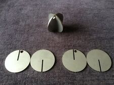 3 X  50mm Diameter Stainless Steel Hanging/Spinning  Air Rifle Targets