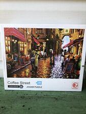 "Coffee Street 1000 Piece Jigsaw Puzzle - Complete - 28"" X 20"""