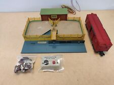 American Flyer S Scale 771 Operating Stock Yard and Car works good