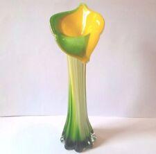 Flower Hand Blown Vintage Original Italian Art Glass