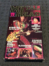 METALHEAD VHS Video NTSC VG+ Vol 2 RARE Steve Vai Jimi Hendrix Slaughter Poison