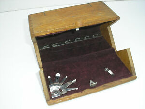 Vintage Singer Sewing Attachment Wood Box (no attachments)