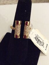 $115 Michael Kors Pave City Barrel Open Ring Size 7 #5