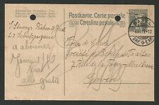 1919 Suisse Helvetia entier postal sur carte postale oblit. Basel /TR1223