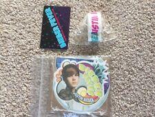 Justin Bieber fever official fan club package stickers card bracelet
