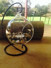Candle Holder Glass Stand Rustic Pebbles Stones Ornament Decor Hippy Boho Beach