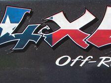 2- Texas Flag 4x4 decals Ford Dodge Chevrolet Z71 Z85 ZR2 Z66 ZR5 TRX4