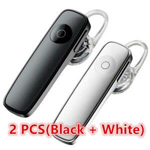 2pcs headset New Plantronics M165 Wireless HD Voice Headset Pro Black + White