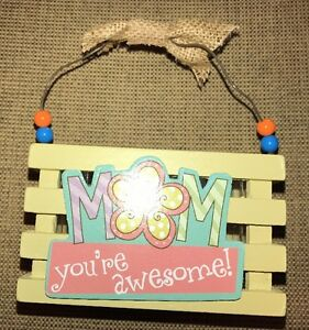 MOM Mother's Day Wood Crate Basket Treat Favors Small Gift Craft