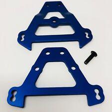 Traxxas Front/Rear Aluminum Bulkhead Anodized Blue Revo 5323