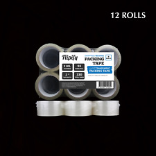 12 Rolls Carton Sealing Clear Packing Shipping Box Tape 2 Mil 2 X 55 Yards