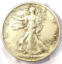 1933-S Walking Liberty Half Dollar 50C - PCGS AU50 - Rare Date - Nice Luster!