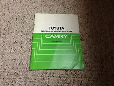 1986 Toyota Camry Electrical Wiring Diagram Manual DX LE 2.0L 4Cyl