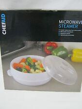 New Chef Aid Microwave Vegetable Steamer White Plastic 10E10803