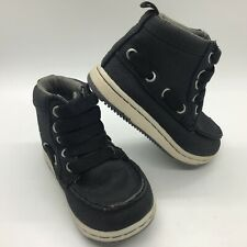 GAP Baby / Toddler Boy Size 7 Black Lace-Up Hi-Top Sneakers Hiking Boots Shoes