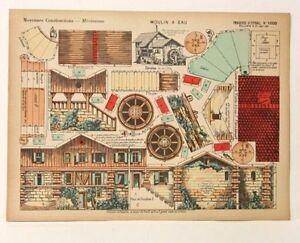 Imagerie D'Epinal No 1000 Moulin a Eau, Moyennes Constructions toy paper model