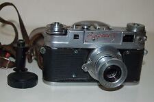 Zorki-5 RED NAME Soviet Rangefinder Camera and Industar Lens. 5813243. UK Sale.