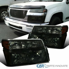For 04-12 Chevy Colorado GMC Canyon Smoke Headlights+Tinted Corner Turn Lamps