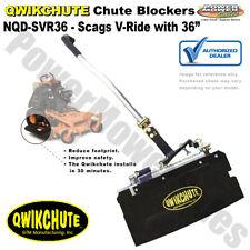 "Qwikchute Chute Blocker / Deflector for Scags V-Ride 36"" Mowers / NQD-SVR36"