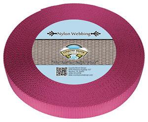 Country Brook Design® 1 Inch Rose Heavy Nylon Strap Webbing, 10 Yards