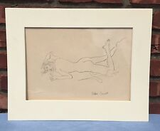 Original Nude Drawing by John Wesley Carroll (1892-1959) Signed by Artist
