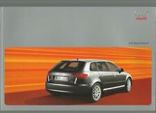 AUDI A3 SPORTBACK SEPTEMBER 2005 FOR 2006 MODEL YEAR SALES BROCHURE
