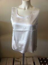 new Maurada Sleeveless Size 18 Tank Top White Shell polyester nwt ladies casual