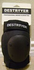 DESTROYER PROFESSIONAL SERIES ELBOW PADS BLACK MEDIUM *NU*