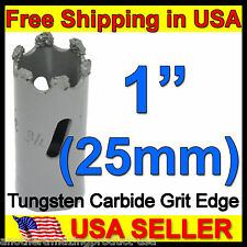 "1"" Tungsten Carbide Grit Tile Hole Saw in 25mm Concrete Marble Slate Cast Iron"