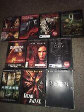🔥10 Scary Dvd Lot Se7en Awake Darkness Falls Dark Water Hostage 9 Alone In Dark