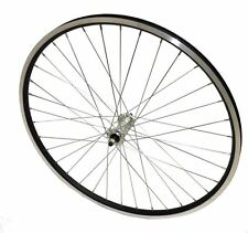 700c Hybrid Bike Front Wheel DOUBLE WALL Black CNC Rim Bolted Alloy Hub - NEW