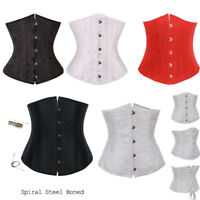 New Waist Training Corset Underbust Steel Bones Lace up Corset Top Shaper Boned
