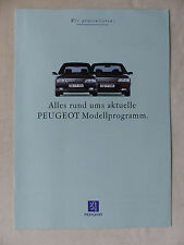 Peugeot Modellprogramm - 106 205 306 405 605 - Prospekt Brochure 08.1993