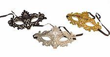 Silver Glitter Filigree Masquerade Mask Eye Gothic Halloween Fancy Dress