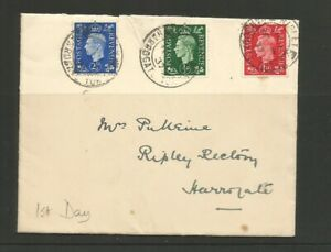 GB KGVI 1937 First Day Cover 1/2d -1d - 2 1/2d 10th May 1937 Definitive