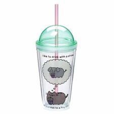 GUND Pusheen The Cat Tumbler Straw Drinking Cup - Travel Mug