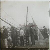 Dieppe Normandie Francia Foto Stereo PL59L9n5 Placca Da Lente Vintage 1908