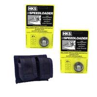 2-Pack HKS Speedloader 357 Magnum S&W J Frame, Taurus 605 Ruger 36-A with CASE