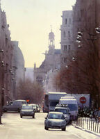 Beautiful Oil painting cityscape Paris street scene no framed Hand painted