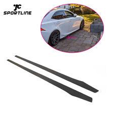 Carbon Fiber Side Skirts Door Edge Trim For BMW VW Benz AUDI Honda Mazda 205CM
