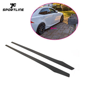 Carbon Fiber Side Skirts Door Edge Trim For BMW VW Benz AUDI Honda Mazda 205CM